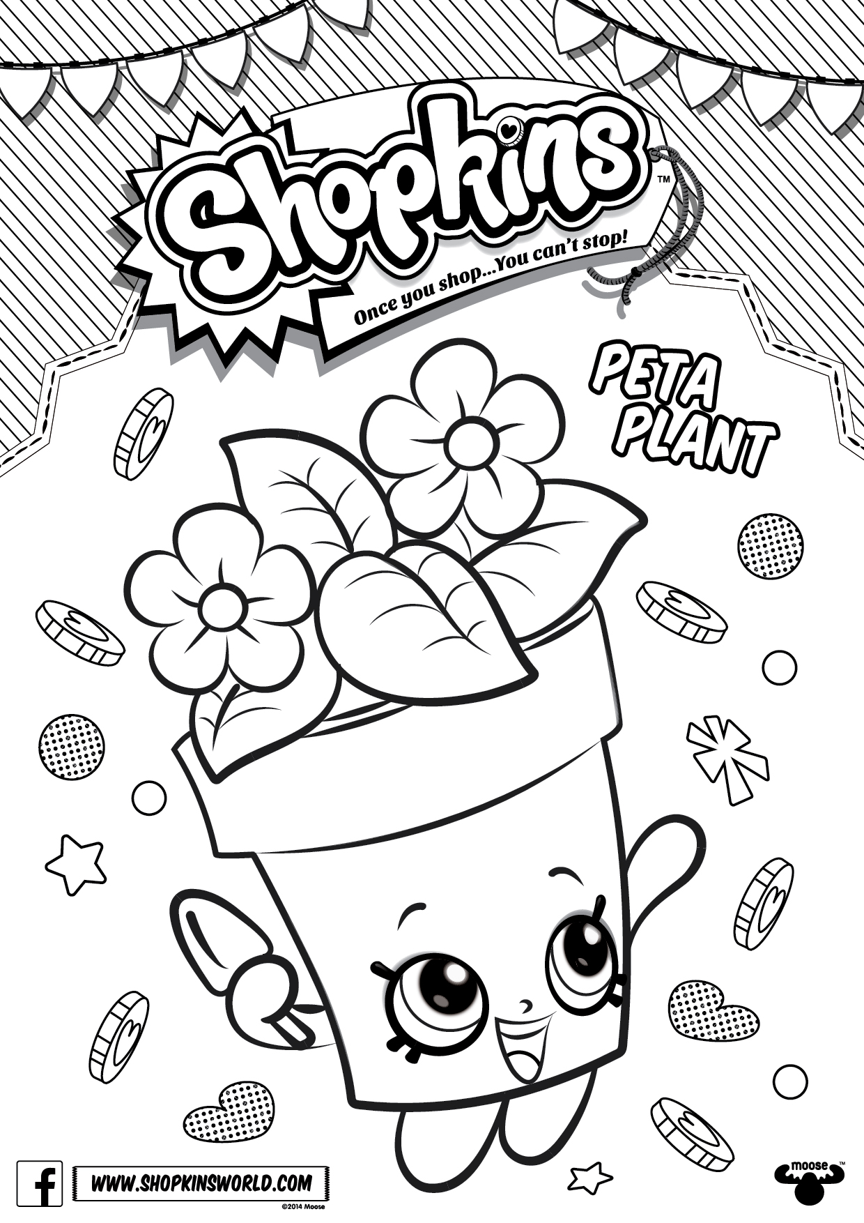 Shopkins Coloring Pages 4 Diy Craft Ideas Gardening