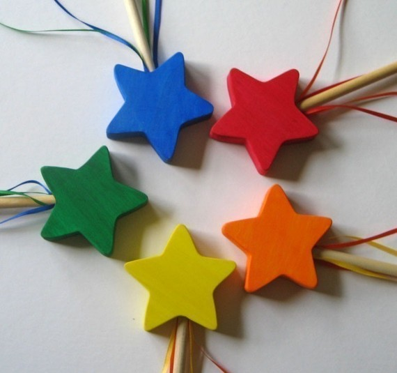 Fairy wand- Wooden Wand- Star- Eco-friendly toy- Imagination Kids by Imaginationkids