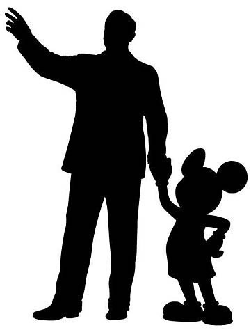 Walt Disney with Mickey Mouse vinyl decal, car decal by ImakeNeatStuff
