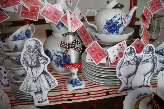 Alice and Wonderland Prop Characters – Party Decorations by CinamonGirl