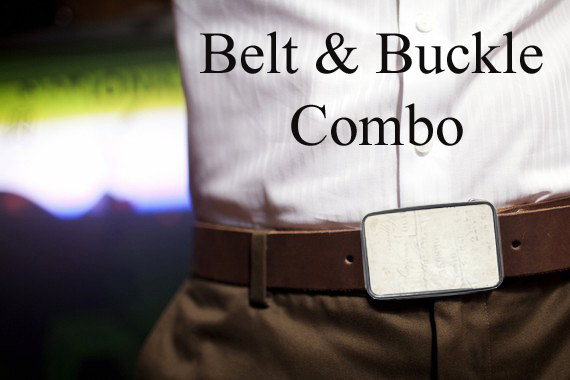 Bmused Belt Buckle with Belt Combo (brown) by bmused