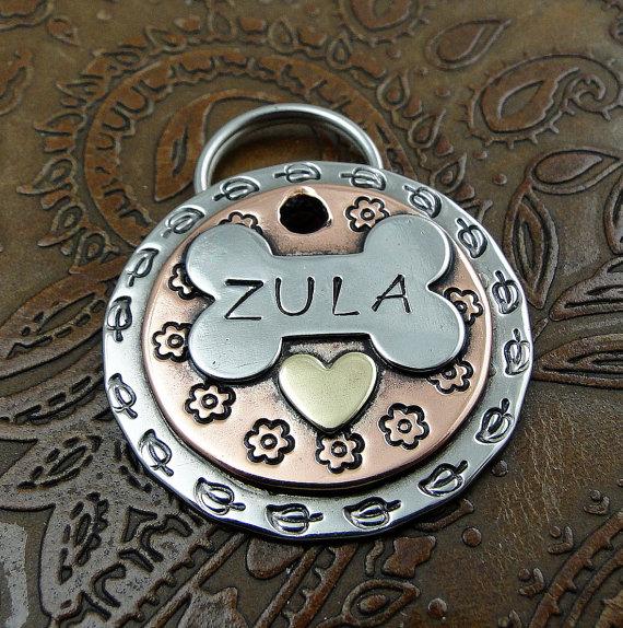 Custom Dog ID Tag – Zula Dog ID Tag by IslandTopCustomTags