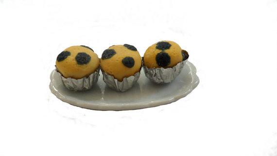 Miniature Blueberry Muffins by Cherrydot