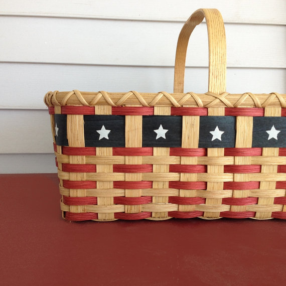 Patriot Market Basket by JoannasCollections