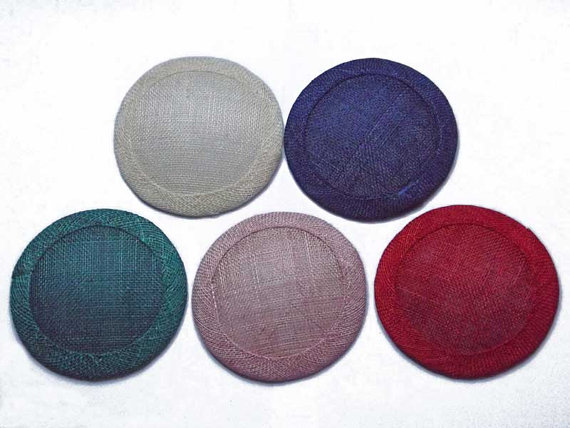 5x 10cm diameter sinamay fascinator base – Free EU Shipping by LJCraftcreations
