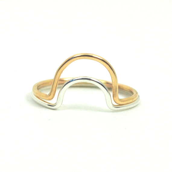 Duo Glyph Ring – Recycled Metal by FavorJewelry