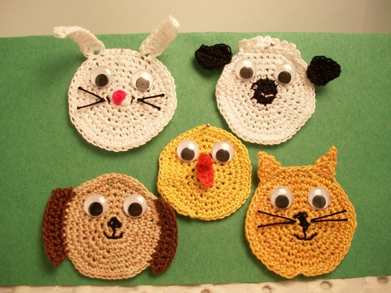 Appliques. Baby animal shapes, scrapbooking, supplies, handmade, wiggly eyes, needlework. Pick your favorite one. by JazzysCrochet