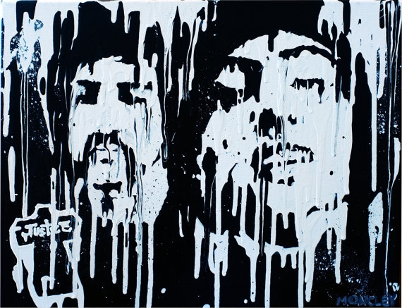 Justice Portrait – 'Justdrip' – ORIGINAL Acrylic Painting on Canvas by MikeOncley