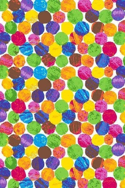 The Very Hungry Caterpillar Fabric Dots in Multi Fat Quarter by neemerone