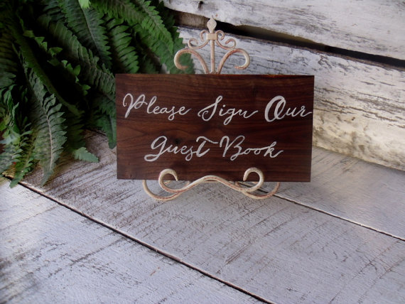 Guest book Sign, Please Sign Our Guest Book Sign, Wedding Sign, Event Sign by willowroaddesigns