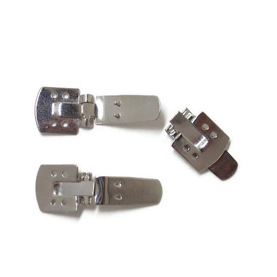 100 Metal Shoe Clips – 11mm x 21mm by TheSodaPopShop