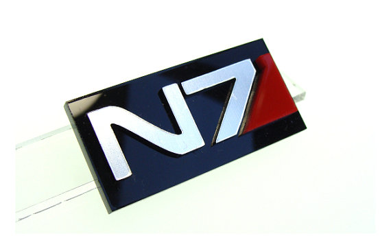 Mass Effect Inspired N7 Logo Pin / Badge / Button by CatrinasToybox