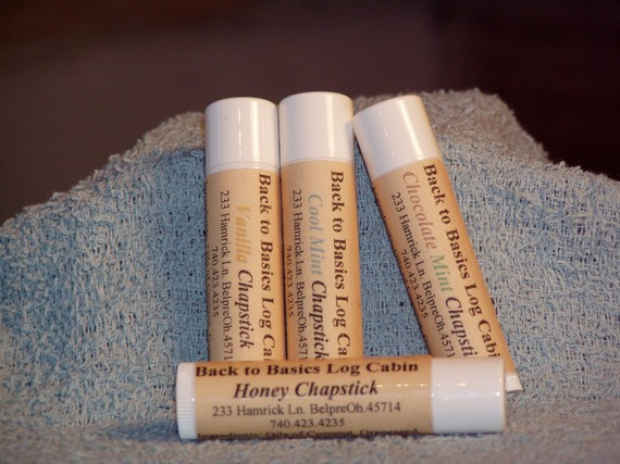 Cool Mint Chapstick-All Natural by BackToBasicsLogCabin