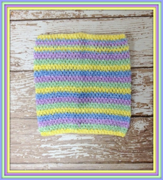 Extra Large 10 & quot; Crochet Tutu Tube Top – Pastel Stripes by KissyfaceKreations