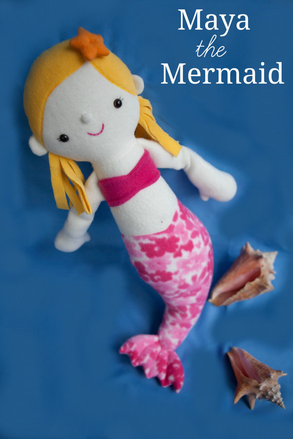 Maya the Mermaid – PDF Sewing Pattern with Step-by-Step Photos and Easy Instructions by whileshenaps