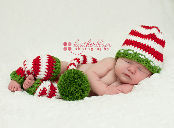 Baby boy hat, baby girl hat, crochet christmas outfit, first christmas, photo prop, baby shower gift, leg warmers, stocking cap, christmas by BriarRoseCraftyThing