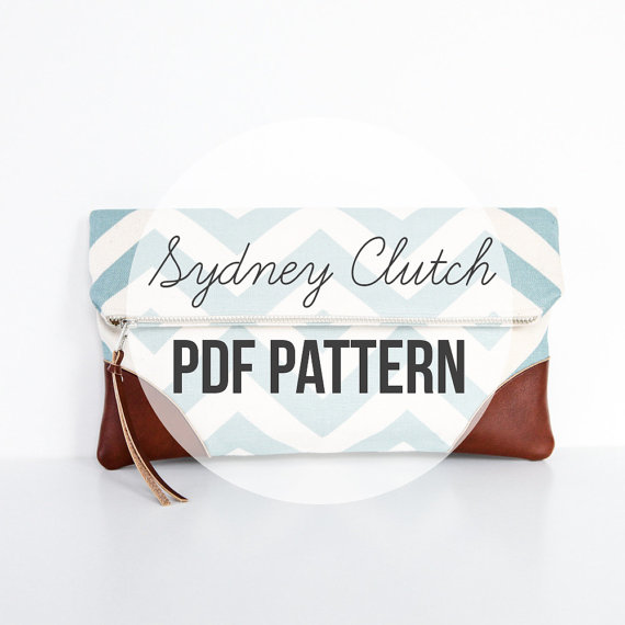 DIY Sewing Pattern & Tutorial INSTANT DOWNLOAD: Sydney Clutch by BrighterDay
