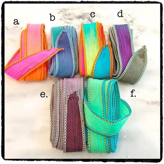 Hand Dyed Silk Ribbon Wrap Bracelets – by YourDailyJewels