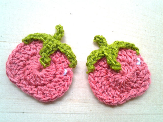 6pcs- Tomato Crochet Appliques – made to order by appliquefarm