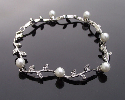 Delicate Ivory Pearl Wedding Bracelet, BELLAGIO by JulesJewellery