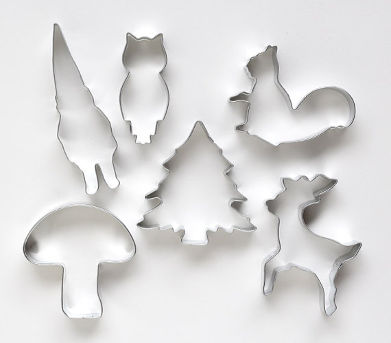 Woodland Cookie Cutter Set by sweetestelle