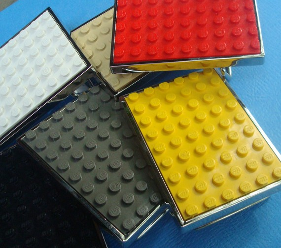 Belt Buckle inlaid with altered LEGO® plate by MissCourageous