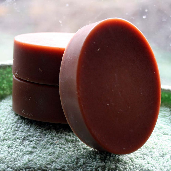 Oval Goat's Milk Soap, Chocolate Colored Goat's Milk Soap, Oval Soap, Bar of Soap, Homemade Soap, Made in Montana Soap by HappyGoatSoap