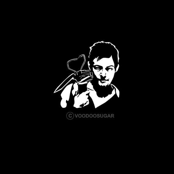 Daryl Dixon Zombie Killer White vinyl decal / sticker by voodoopin