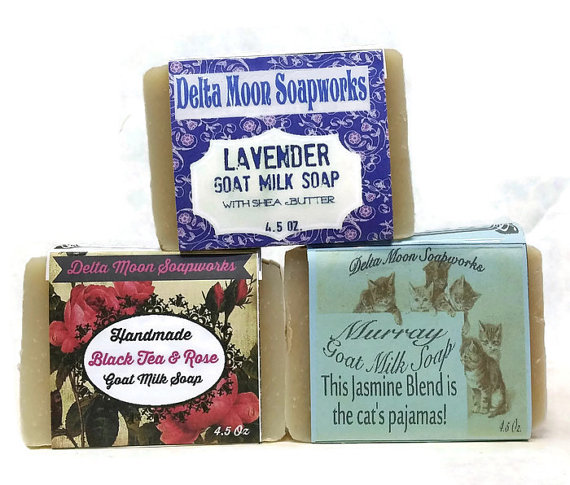 Shea Butter Floral Goat Milk Soaps,Shea Butter Soap, Olive Oil Soap, Eco-friendly soap, Rose soap, Jasmine Soap, Lavender Soap, gift soap by deltamoonsoap