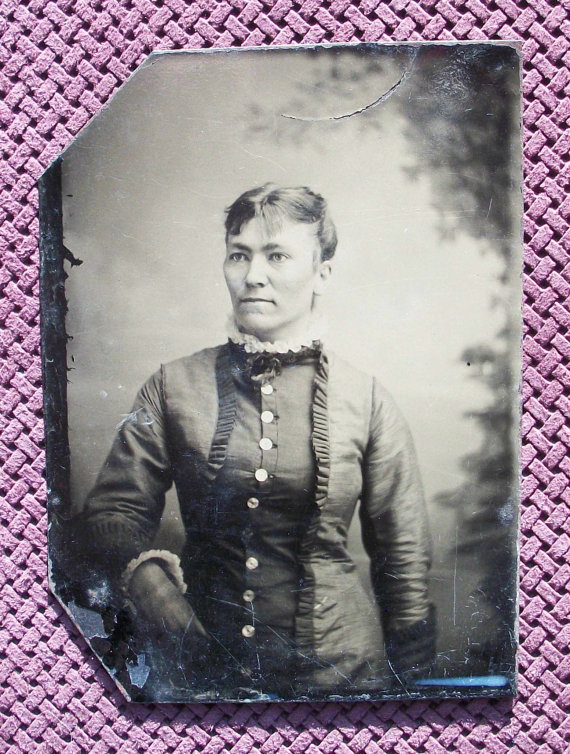 Tintype Bursting Her Buttons by glassing