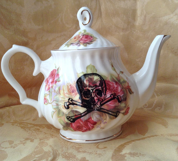 Steampunk Pirate Tea Pot by LithiasCreations