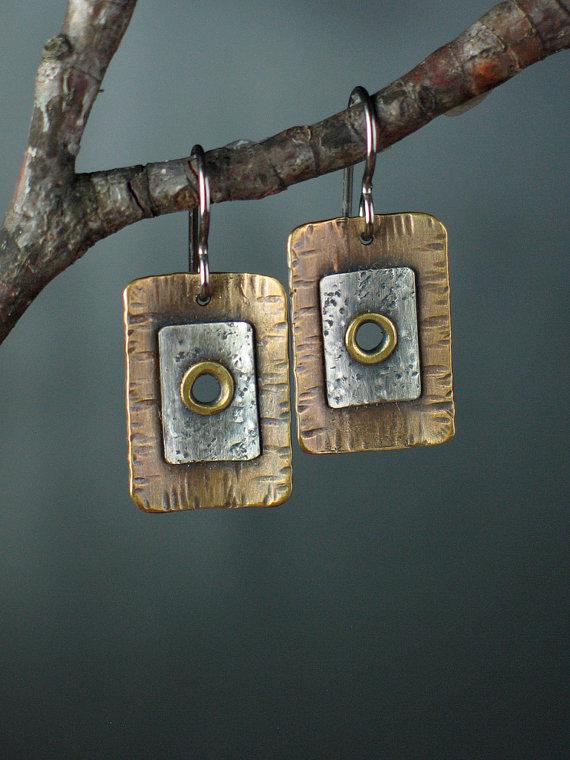 Riveted Tab Earrings by MaggieJs