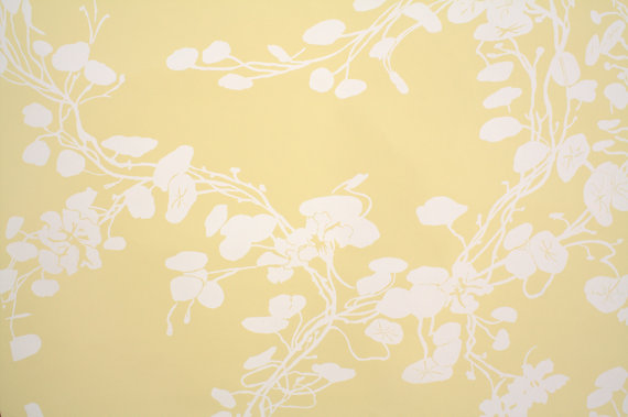 1970's Retro Wallpaper – Vintage Yellow and White floral Vinyl by RetroWallpaper