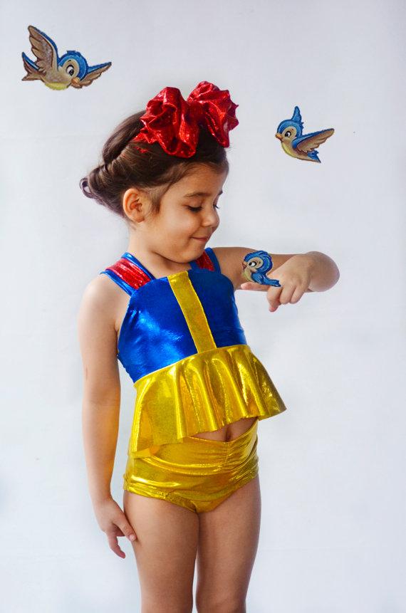 Girls Snow White Swim Suit by ISADORAKIDS