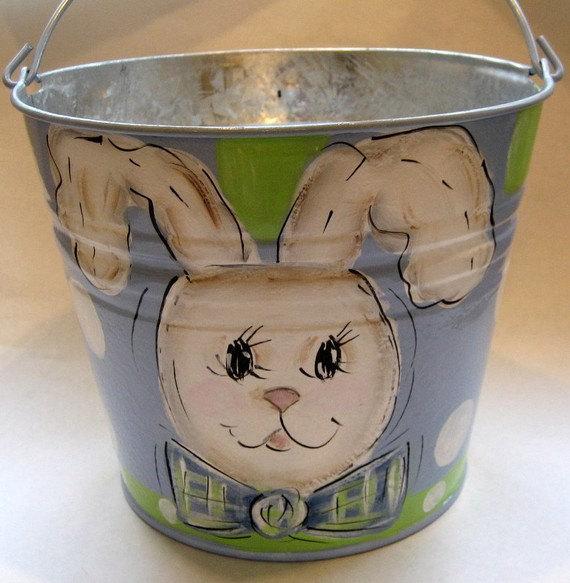Boys Bowtie Bunny Easter Basket by SassyfrasDesignz
