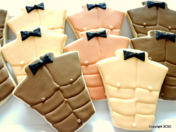 Six pack abs – Male Torso- Male Bare Chest- Exotic Dancer Cookie Favors(#2334) by 3CSC