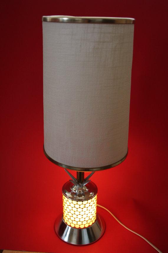 VINTAGE mid century modern table lamp by surlymermaid