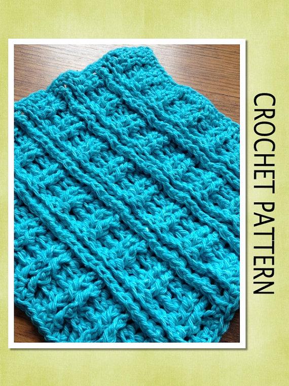 PDF Crochet Pattern – RIBBED DISHCLOTH Crochet Pattern by BouquetBeanies