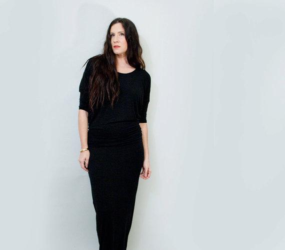 Maxi Dress • Relaxed Draped Dress • Women's Quarter Sleeve • Tall & Petite Length Dresses • Loft 415 Minimalist Clothing (No. 414) by LOFT415