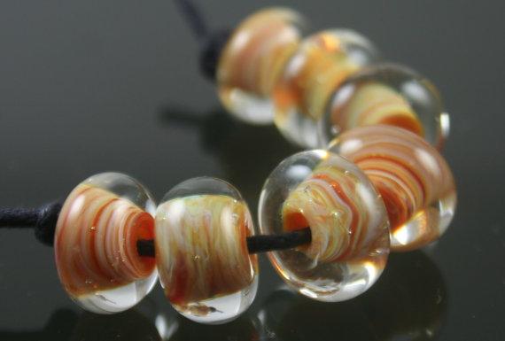 Handmade Lampwork Boro Beads Set of 7 Boro Borosilicate Glass StoneyMarie by StoneyMarieDesigns