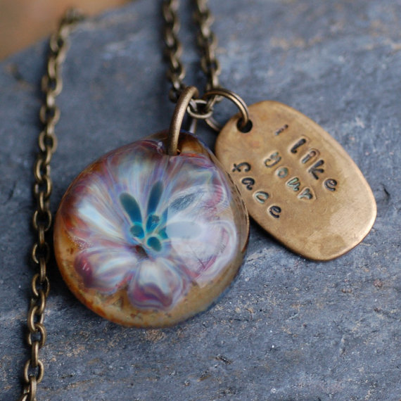 Glass Flower Pendant Boro Borosilicate Lampwork Necklace Lily – I Like Your Face by Venbead