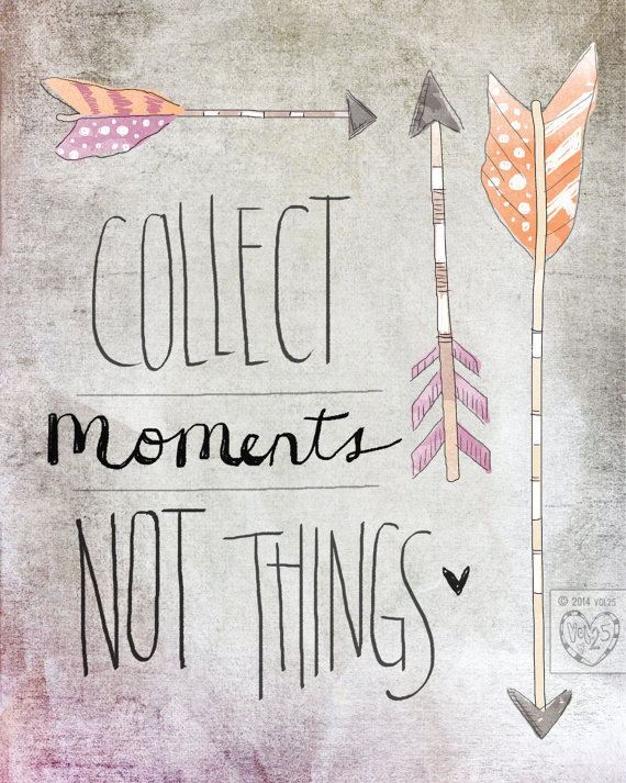 Collect Moments- Beautifully textured cotton canvas art print. Order as an 8×10 11×14 or 16×20 size. by vol25