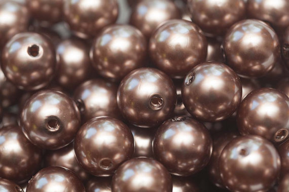 20mm Brown Faux Pearl Chunky Bubblegum Necklace Beads 10 ct – Chunky Beads by SummerInspirations