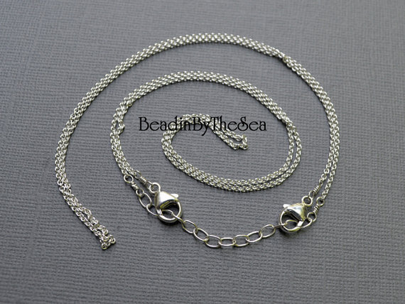 Adjustable Double Detachable Sterling Silver Cable Chain for Link Necklaces Mama Metal by BeadinByTheSea