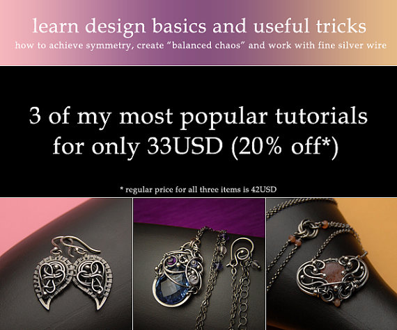 Get 3 tutorials on wire-wrapping design basics and useful tricks for 20% less – instant download available! by IzaMalczyk