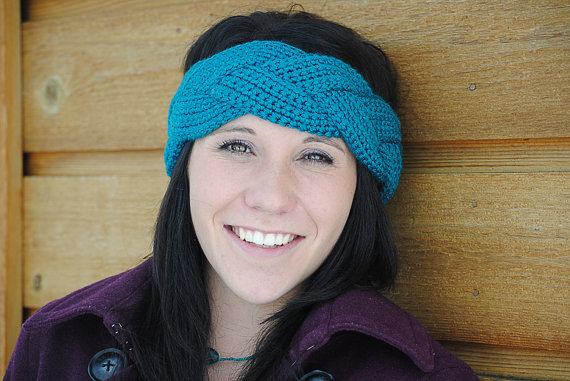 Instant Download – CROCHET PATTERN PDF – Natalie Braided Ear Warmer – Permission To Sell Finished Items by livinginamethyst