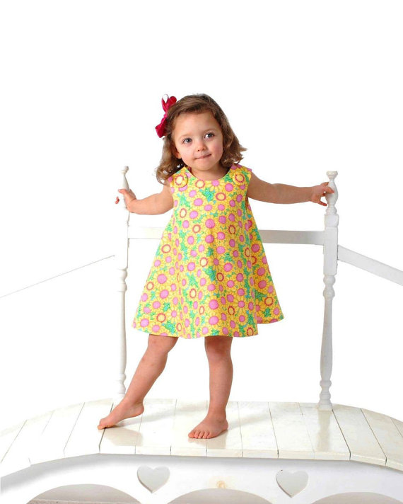 New SEW GIRLY A Line Dress pattern – Baby and Toddler – Classic Reversible Dress / Jumper Pdf pattern by OlaJanePatterns