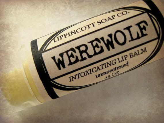 Werewolf Lip Balm, Unsweetened Lip Balm, Handmade Lip Balm, Lavender Musk Lip Balm, Unique Lip Balm, Unisex Lip Balm, Men's Gift by LippincottSoapCo