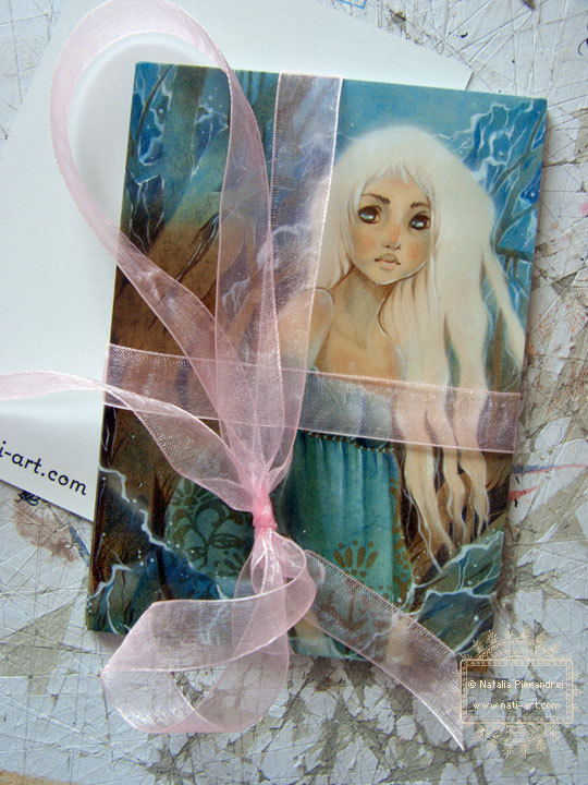 Postcard – Earth and Water – Fantasy – Fairy Tale – FolkTale – Art Card – Greeting Card by girlwithflaxenhair