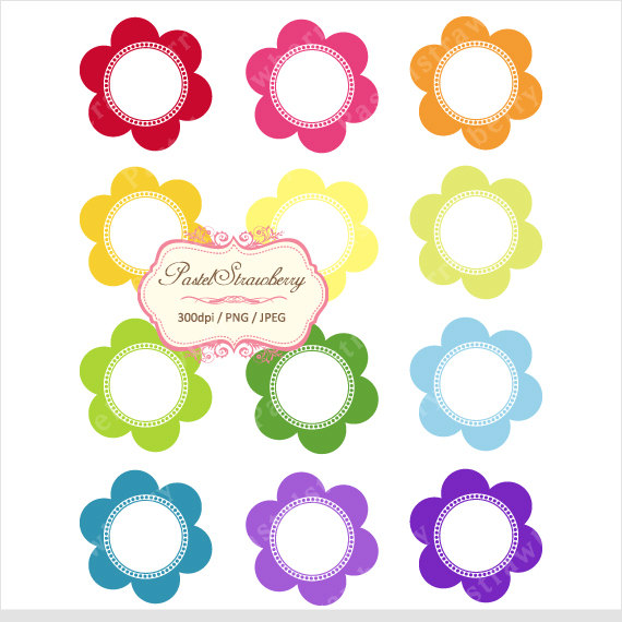 24 Colorful Frames – Personal Or Small Commercial Use (PS002) by pastelstrawberry